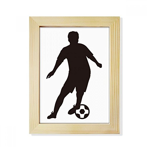 DIYthinker Soccer Football Sports Silhouette Desktop Wooden Photo Frame Picture Art Painting 6x8 inch by DIYthinker