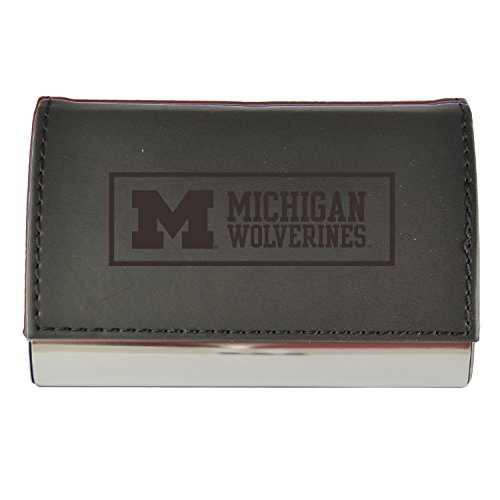 Velour Business Cardholder-University of Michigan-Black (Michigan Business Card Holder)