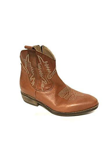 MainApps Stivali in Pelle Tacco Vintage Texani Divine Marrone Follie Basso Vera zwxSnqP5X