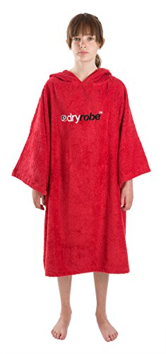 owel Changing Robe - Short Sleeve Towelling Change Poncho/Dry Robe One Size Red ()