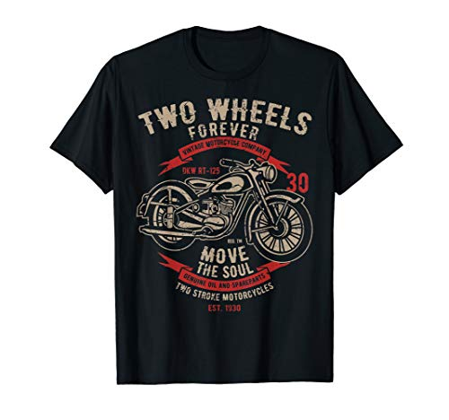 Motorcycle Shirt Two Wheels Forever - Honda Motorcycle Shirts