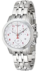 Tissot White Dial Stainless Steel Chronograph Woman's Watch T0552171103200