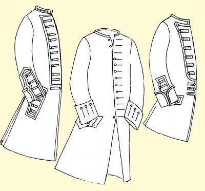 1750's Coat with Military Variations for the Officer