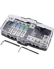 AuInLand Auto Distribution Fuse Block Mini ANL Power Distribution Block Fuses Box 30A 60A 80Amp Fuses