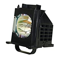 AuraBeam Economy Mitsubishi WD-60737 Television Replacement Lamp with Housing
