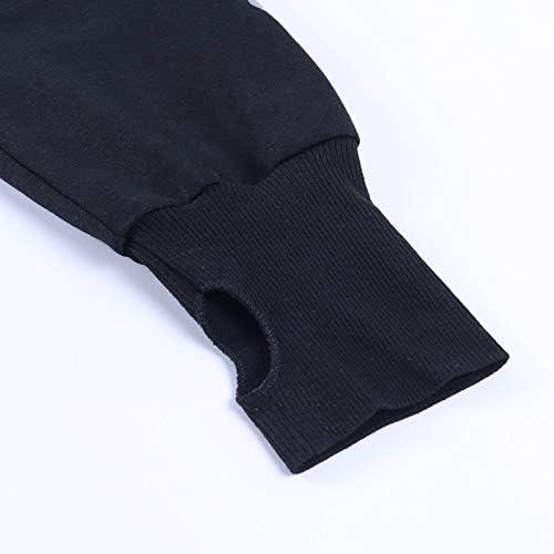 Punk Goth Emo Evil Print Long Sleeve Chic Crop Top Women Gothic Dark Series Hoodie Sweater