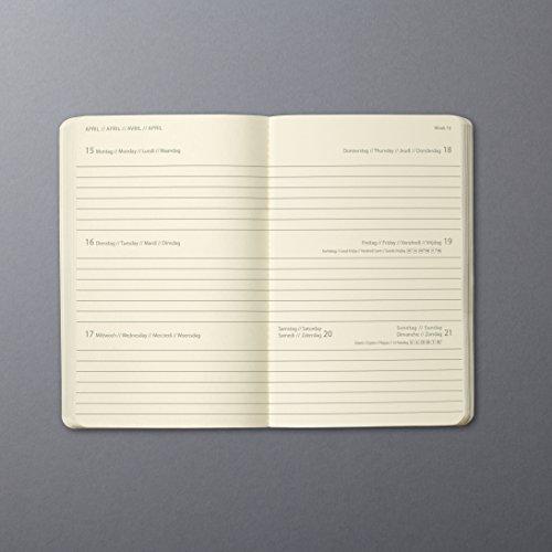 Sigel C1932 Agenda semanal 2019 CONCEPTUM, tapa blanda 13,5 x 21 cm, azul oscuro