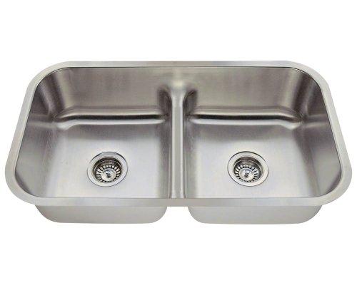 MR Direct 512-16 Half Divide Stainless Steel Kitchen Sink