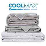 Degrees of Comfort Weighted Blanket w/ 2 Duvet Covers for Hot & Cold Sleepers|Advanced Nano-Ceramic Beads Deliver Durability & Silky Comfort (80x87 30lbs, Grey)