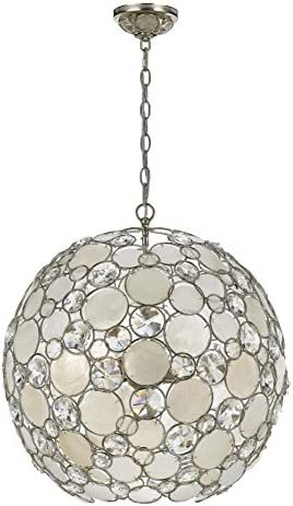 Crystorama 529-SA Palla Chandelier – 21W in.
