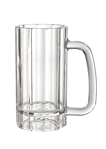 20 oz. Clear Beer Mugs Break Resistant Plastic, Polycarbonate, by GET 00087-PC-CL-EC (Pack of 4) by G.E.T. Enterprises