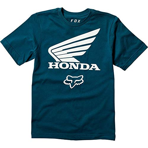 (Fox Racing Youth Honda Basic T-Shirt-Navy-YS)