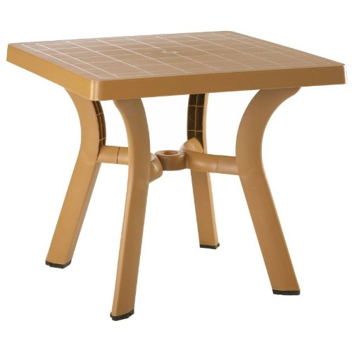 "Compamia Viva Resin Square Dining Table 31 Inch (Teak Brown) (29"" H x 31"" W x 31"" D)"