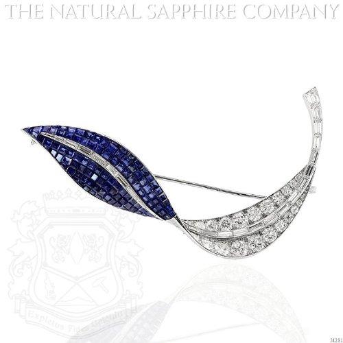 Diamond & Sapphire Brooch - 4