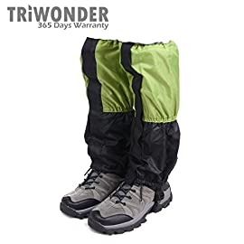 Triwonder 1 Pair Unisex Outdoor Snow Leg Gaiters