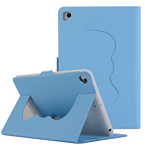 MeiLiio ipad case PU Leather Lightweigh Multi-Angle Viewing with Auto Wake-Sleep Solid Color Smart Cover for kids iPad Mini 1/Mini 2/Mini 3/Mini 4 (Light Blue) by MeiLiio