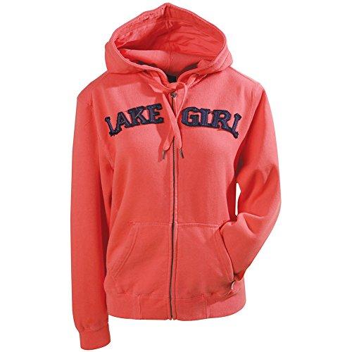 [해외]의 호수 소녀 우편 전면 후드 티 셔츠/Women`s Lake Girl Zip Front Hoodie Sweatshirt