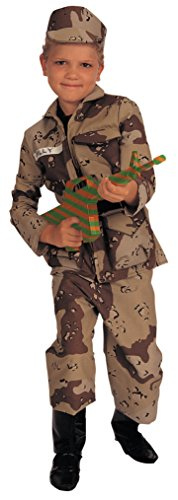 (Young Heroes Deluxe Child Special Forces Costume, Brown Camo,)