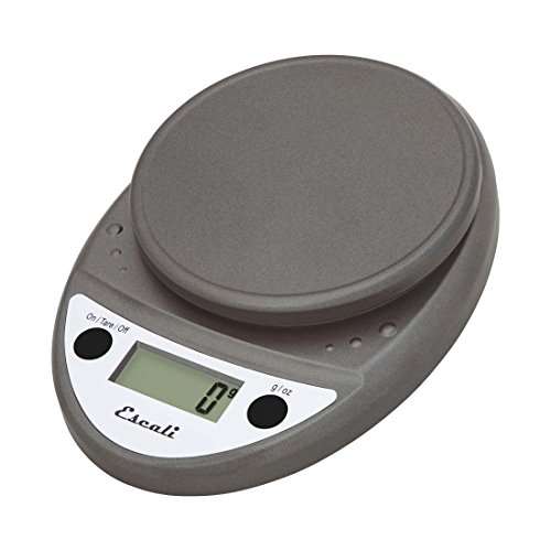 Escali  Primo P115M Premium Precision Food Scale for Baking and Cooking , Lightweight and Durable Design, LCD Digital Display, Lifetime ltd. Warranty, Metallic