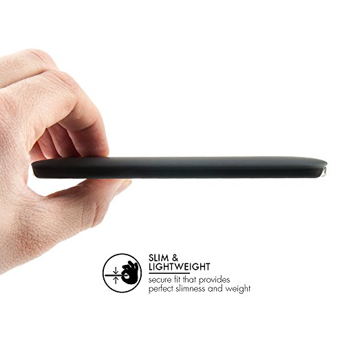 """QUADOCTA HTC One M8 Hülle Slim Case """"Anti Fingerabdruck"""" und """"Anti Kratzer"""" Schutzhülle in matt schwarz - """"Serici"""" HTC One Bumper M8 Cover"""