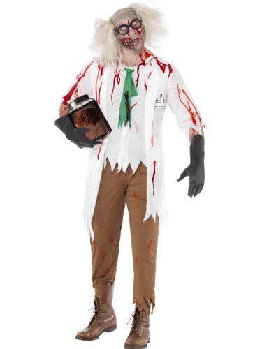 [High School Horror Zombie Science Teacher Costume Adult Large] (Costumes For Teachers)