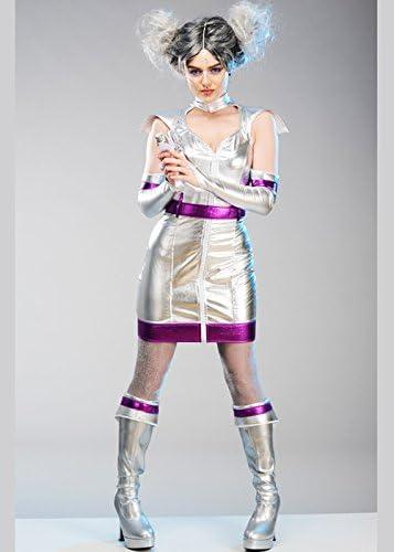 Disfraz de niña alienígena de Plata para Mujer Medium (UK 12-14 ...