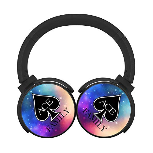 - MagicQ New Ace-Family Logo Bluetooth Headphones,Hi-Fi Stereo Earphones Black