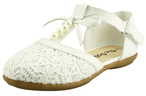 The Doll Maker Lace Pearl T-Strap Sandal - TD172015D-9