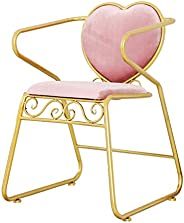 XINGPING Pink Dining Chair Cafe Table and Chair Restaurant Wholesale Hot Pot Hotel Stool Princess Iron Chair A