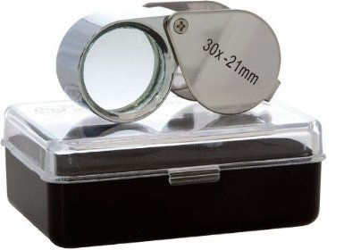 30x-21mm Glass Lens Jeweler Loupe Magnifier Doublet, Chrome Plated, Round Body ()