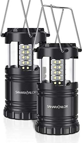 2 confezione] lantern- Sahara Sailor ultra luminoso LED lanterna da campeggio pieghevole – adatto per: hiking, camping, emergenze, Uragani, interruzioni