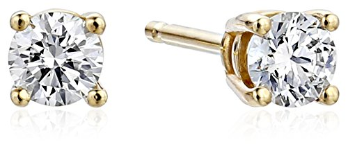 IGI Certified 14k Gold Lab Created Diamond Stud Earrings (1/4 4 cttw, I J Color, SI1 SI2 Clarity)