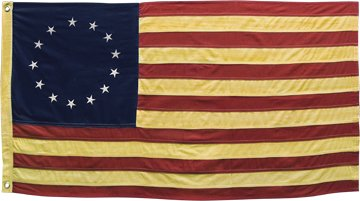 Tea Stain Aged Betsy Ross Colonial American Flag Stars Stripes Country Patriotic Primitive (Betsy Ross 13 Star)