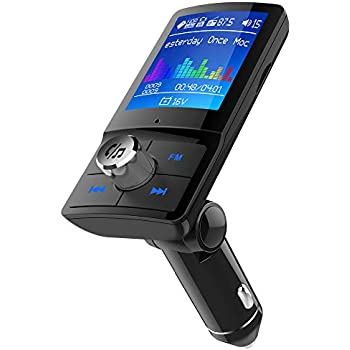 HLOMOM Bluetooth Car FM Transmitter with 1 8