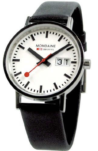 Mondaine Classic Big Date - Polished Finish - 33 mm Unisex Size -  white dial -  A669.30008.11SBO (Dial Polished White)