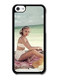 AMAF ? Accessories Grace Kelly Posing Beach Actress Princess case for iPhone 5C