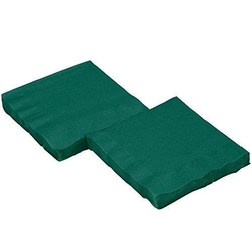Perfectware 2 Ply Hunter Green-200 Hunter Green Beverage Napkin Package of 200ct- 2-Ply , 2.5