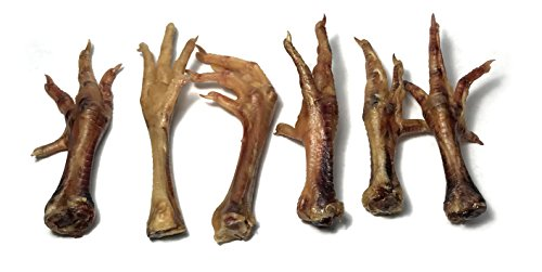 Texas-Sourced Sustainably-Raised Organic Chicken Feet for Dogs - (10-13 Count) Human-Grade Made in USA Canine Chews with Collagen, Glucosamine & Chondroitin - Raw Diet Approved- by Sancho & ()