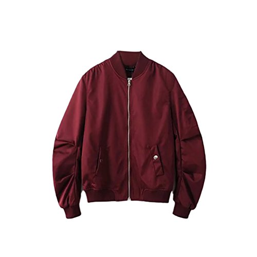 Classico Coats Bomber padded Jackets Loose Colors Mens Fit Work Zhhlaixing Red 4 Non TpB4qnwTd