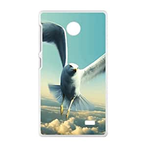 Flyig Bird And Clouds Sky White Phone Case for Nokia Lumia X
