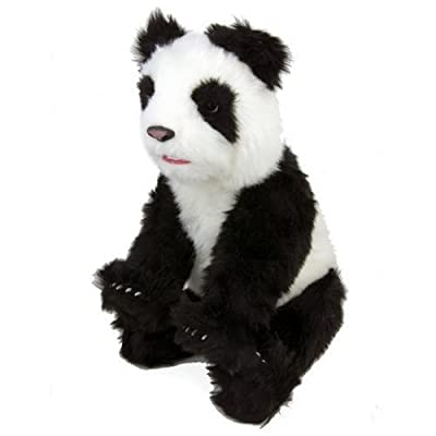 WoWWEe Alive Panda Bear Cub Plush Robotic Toy In Black/White