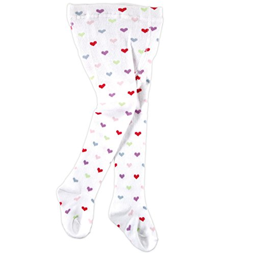 Heart Print Cotton Tights