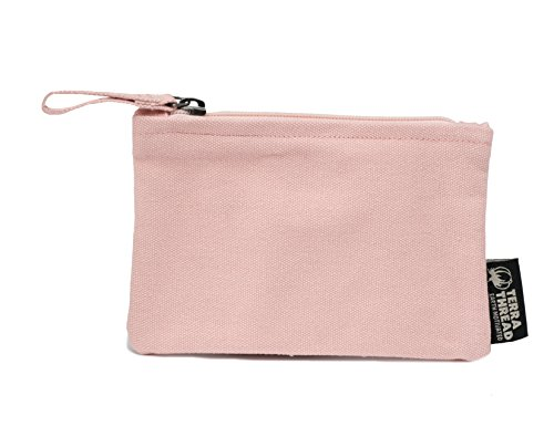 Cotton Coin Purse - Unisex zipper wallet. Key holder. Credit Card holder. Cash holder. Coin holder wallet with zipper. Made with organic cotton canvas. Vegan purse.