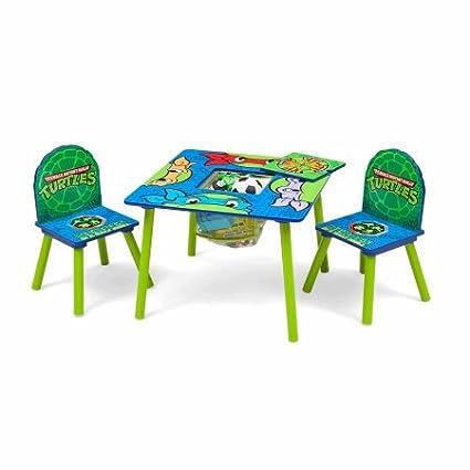 Amazon.com: Teenage Mutant Ninja Turtles Table and Chair Set ...