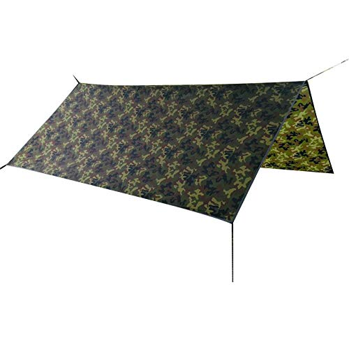 Sunshade tent beach mat easy to install light camping and portable three-season tent camping tent Family Tent, Camouflage, 3-4 people (Best Tent Camping In Estes Park)