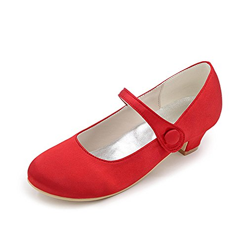 Wedding amp; Spring Satin Ribbon Shoes Evening Tie Party Dress Summer Purple Flat Ballerina L Ruby Buckle Heel Red Women's Comfort Blue Wedding YC p7EZwxqY8