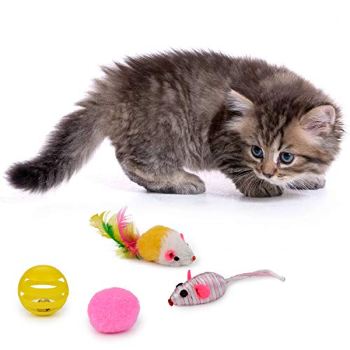 Legendog Cat Toys Set, 22PCS Kitten Toys Variety Cat Toy Pack Cat Toys Collection Kittten Toys Variety Pack Including Cat Feather Teaser Wand, Catnip Toy, Mice, Colorful Balls, Bells and so on for Cat 3