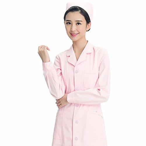 Xuanku Enfermera Blanco De Invierno De Manga Larga Vestido De Bata Blanca Farmacia Médicos Escolares Ropa De Trabajo: Amazon.es: Ropa y accesorios