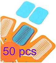 100 PCS Abs Stimulator Gel Pads,EMS Abs Trainer Replacement Gel Sheet Abdominal Toning Belt Ab Muscle Toner Be