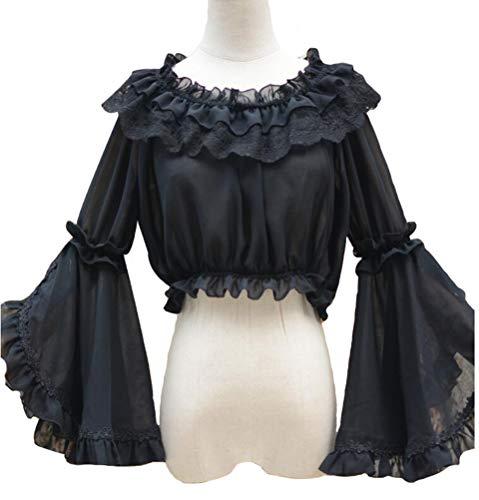 Smiling Angel Girls Sweet Lolita Blouse (One Size, Black) (Blouse Angel)